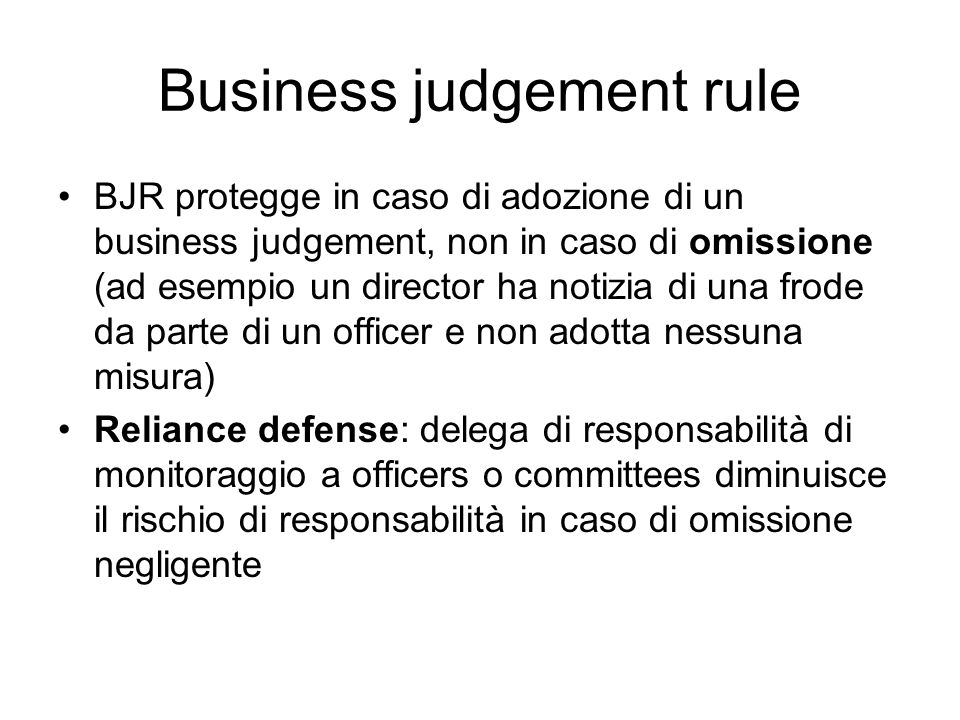 Business judgement rule