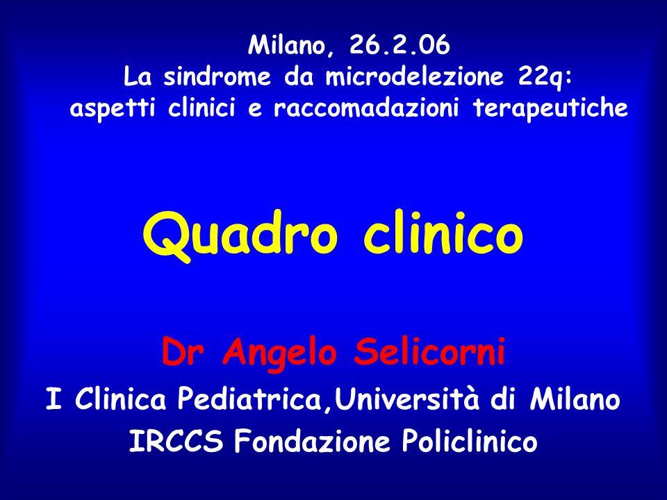Quadro clinico Dr Angelo Selicorni