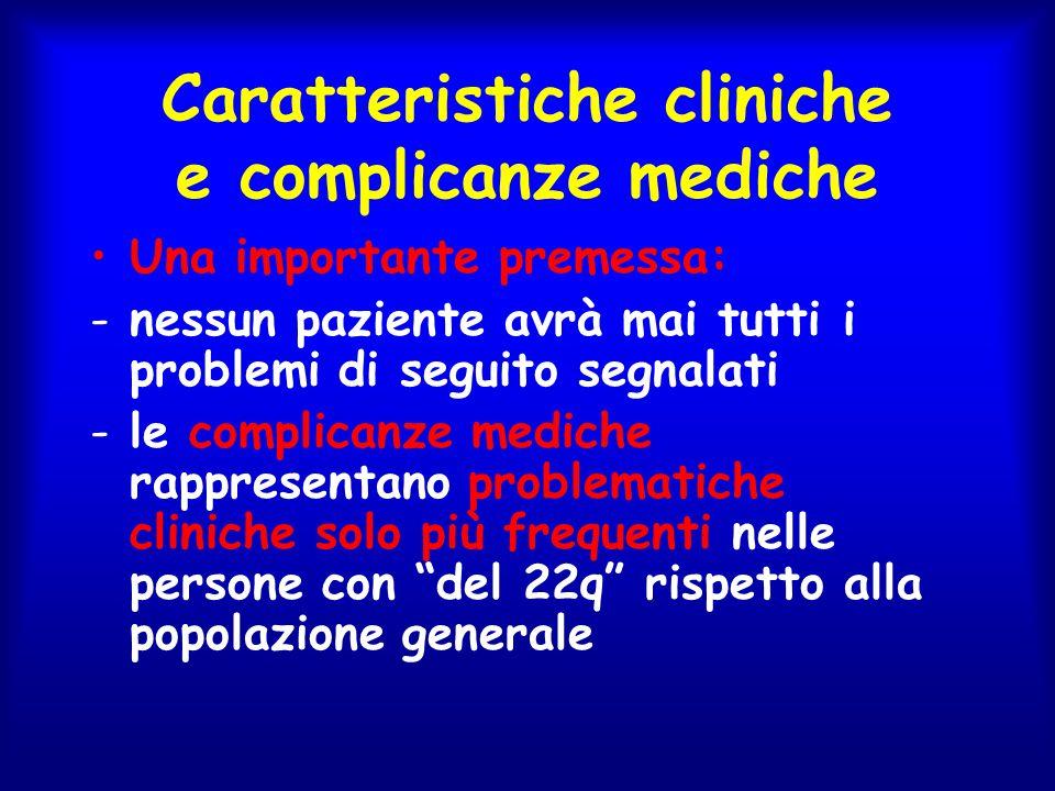 Caratteristiche cliniche e complicanze mediche
