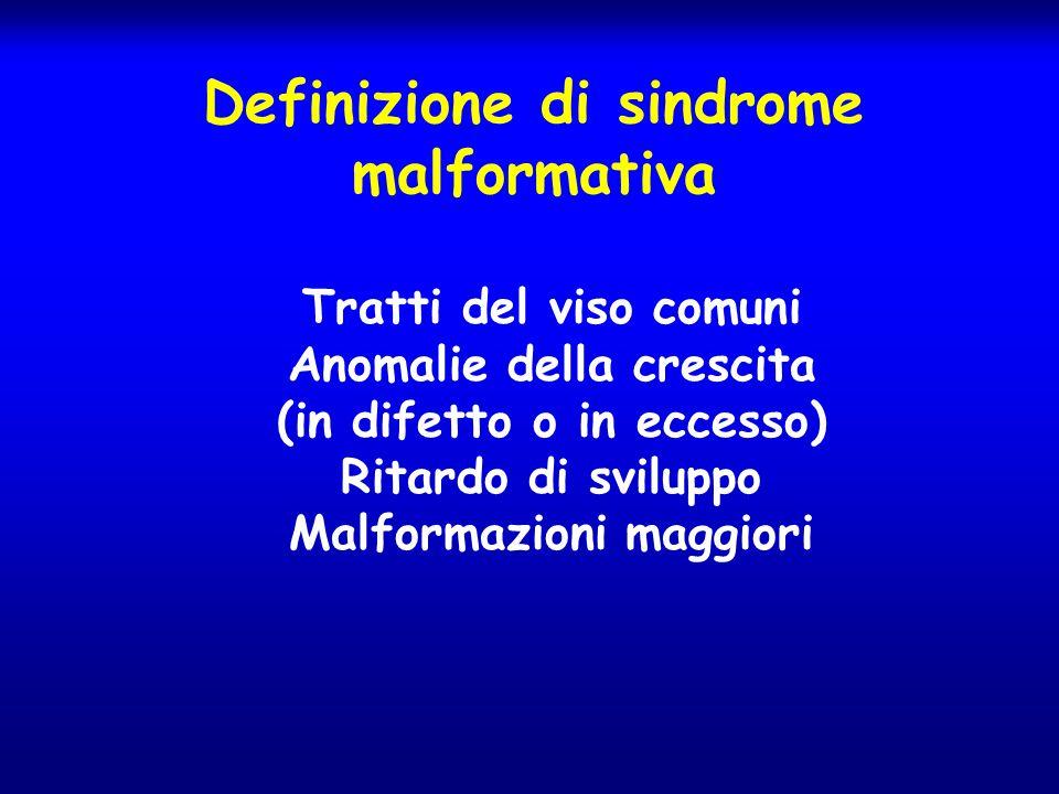 Definizione di sindrome malformativa
