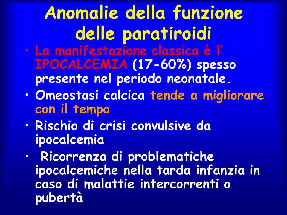 Anomalie della funzione delle paratiroidi