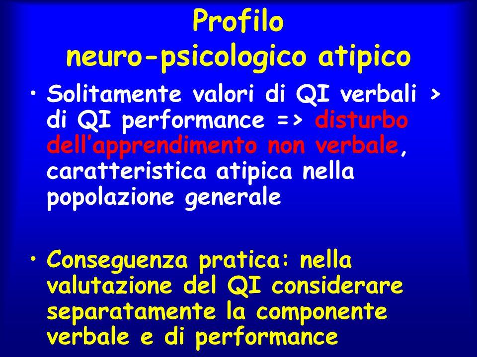 Profilo neuro-psicologico atipico