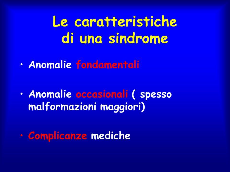 Le caratteristiche di una sindrome