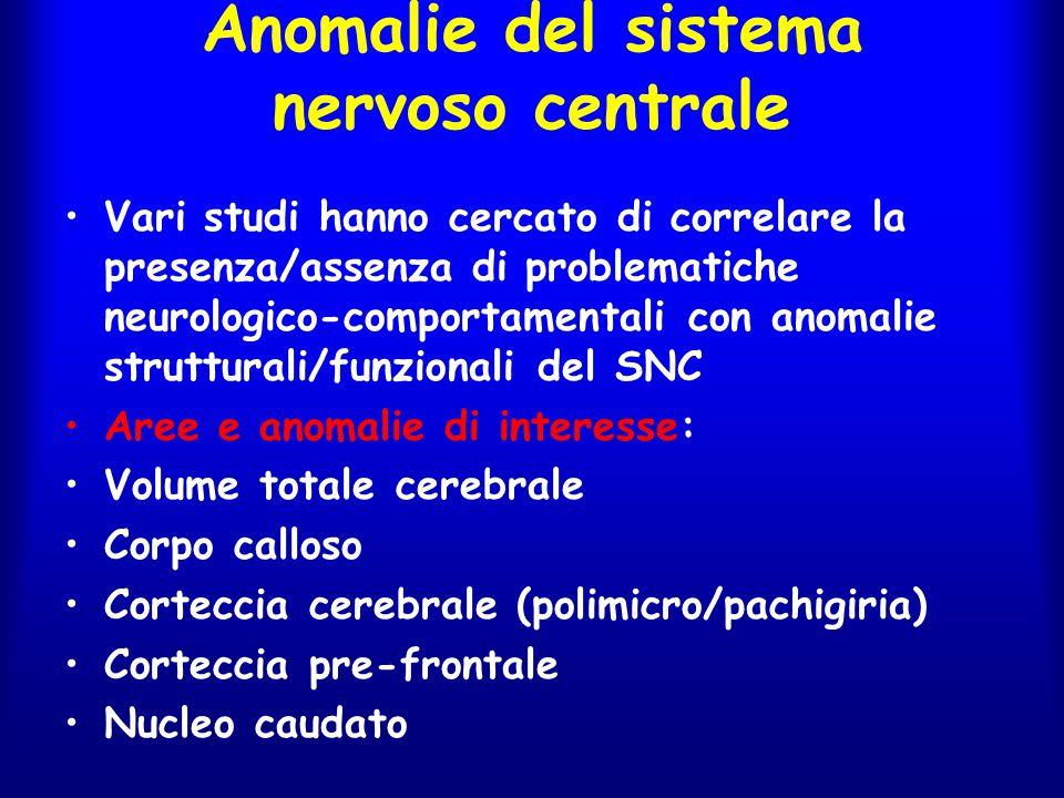 Anomalie del sistema nervoso centrale