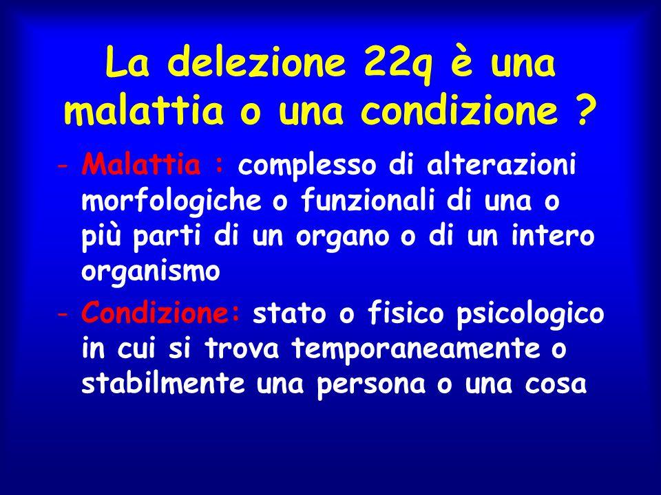 La delezione 22q è una malattia o una condizione