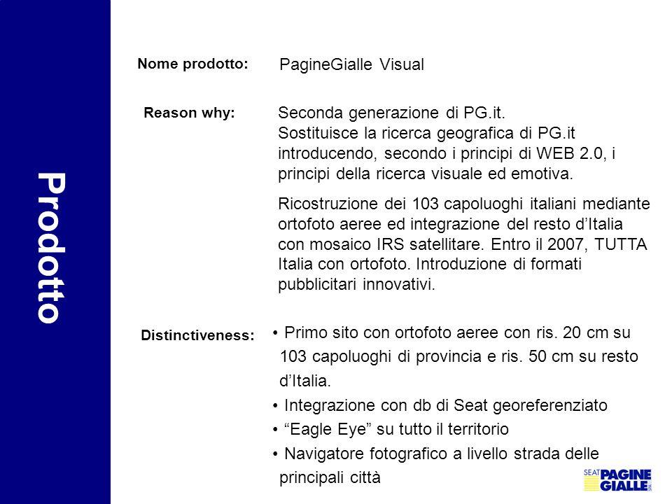 Prodotto PagineGialle Visual Seconda generazione di PG.it.