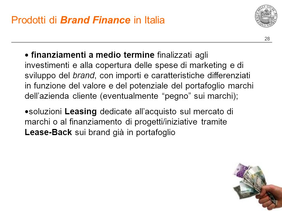 Prodotti di Brand Finance in Italia