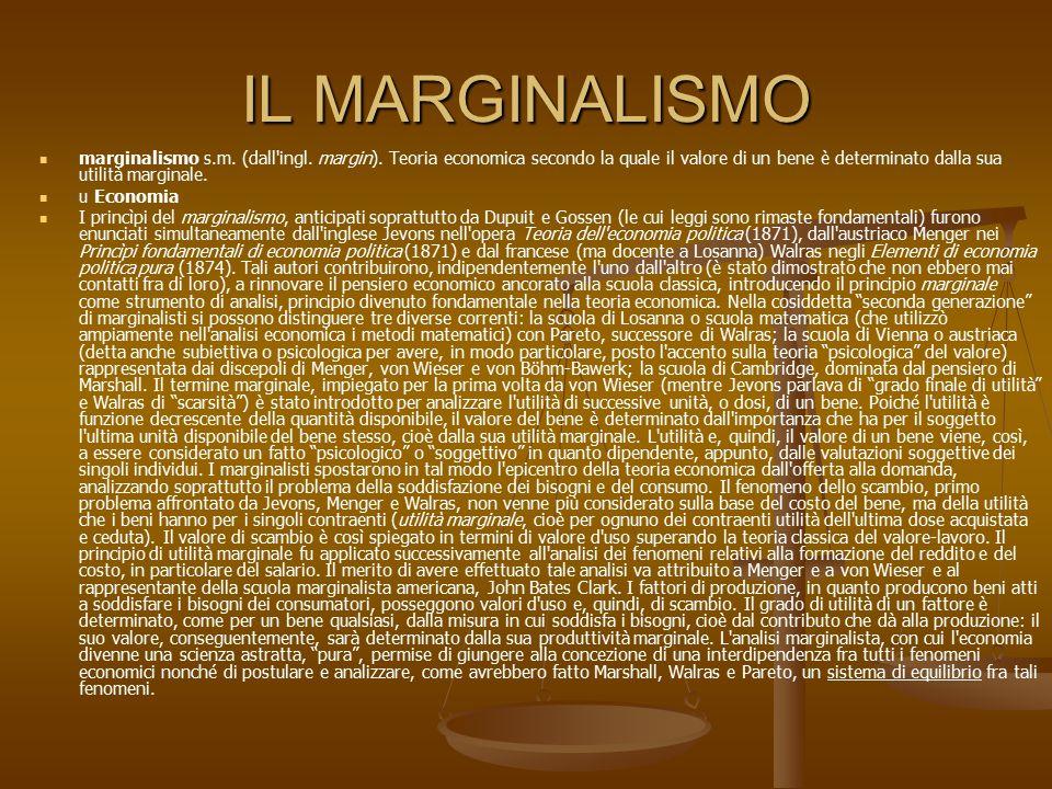IL MARGINALISMO