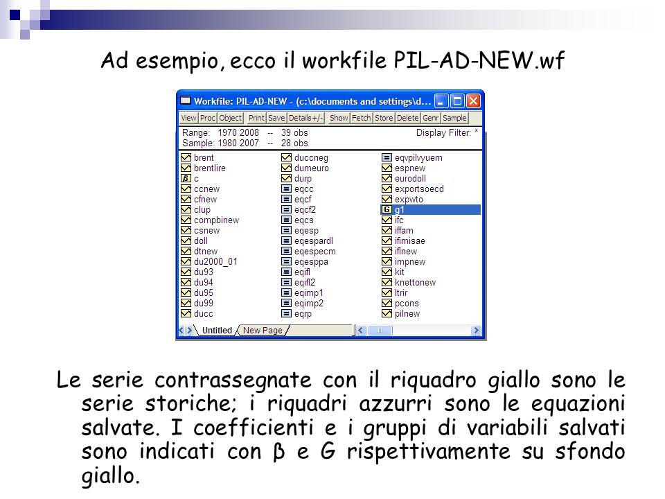 Ad esempio, ecco il workfile PIL-AD-NEW.wf