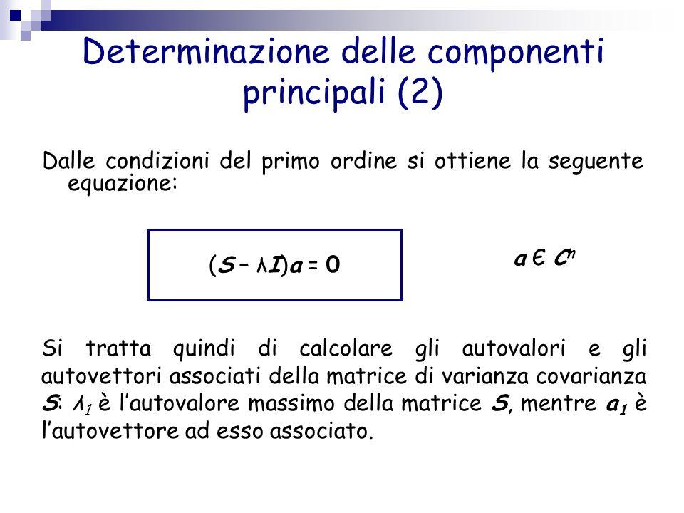 Determinazione delle componenti principali (2)