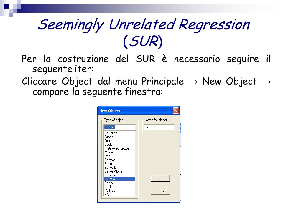 Seemingly Unrelated Regression (SUR)