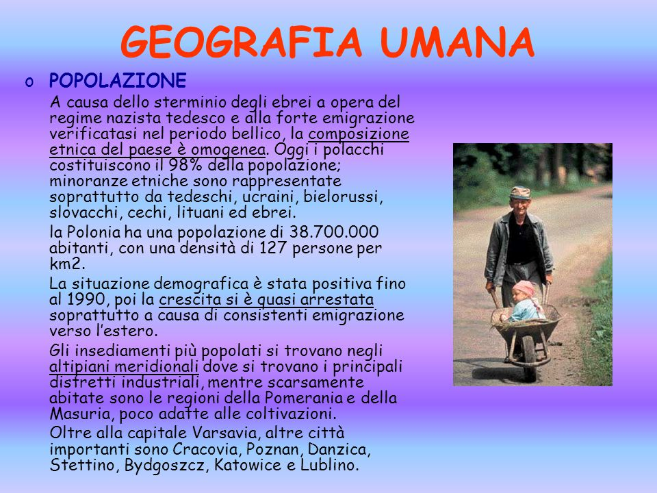 GEOGRAFIA UMANA POPOLAZIONE