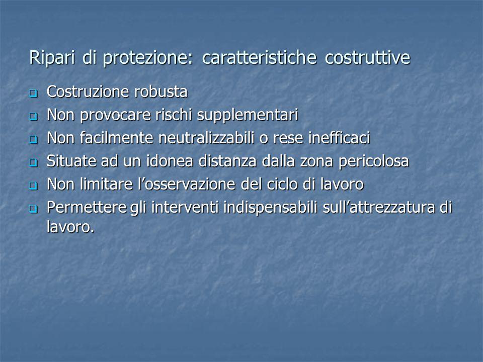 Ripari di protezione: caratteristiche costruttive