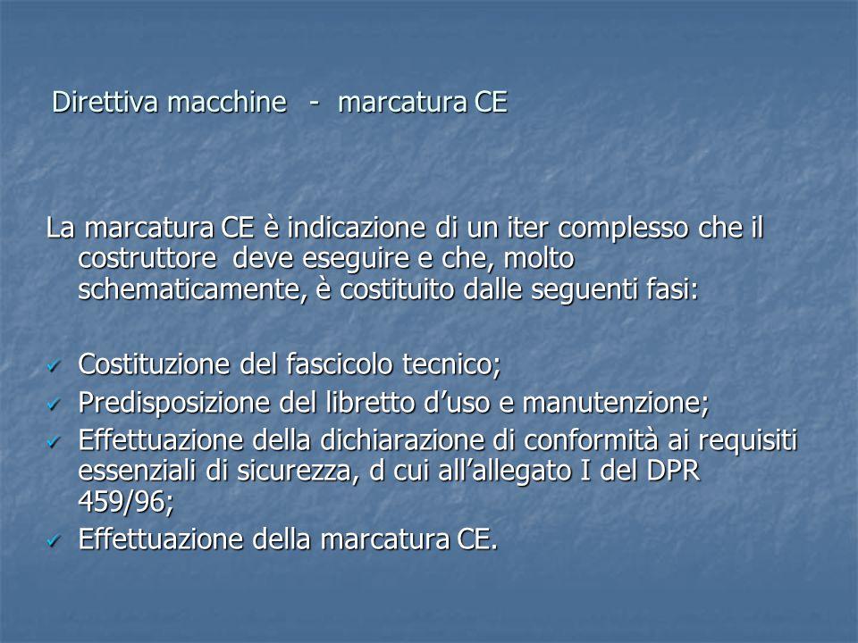 Direttiva macchine - marcatura CE