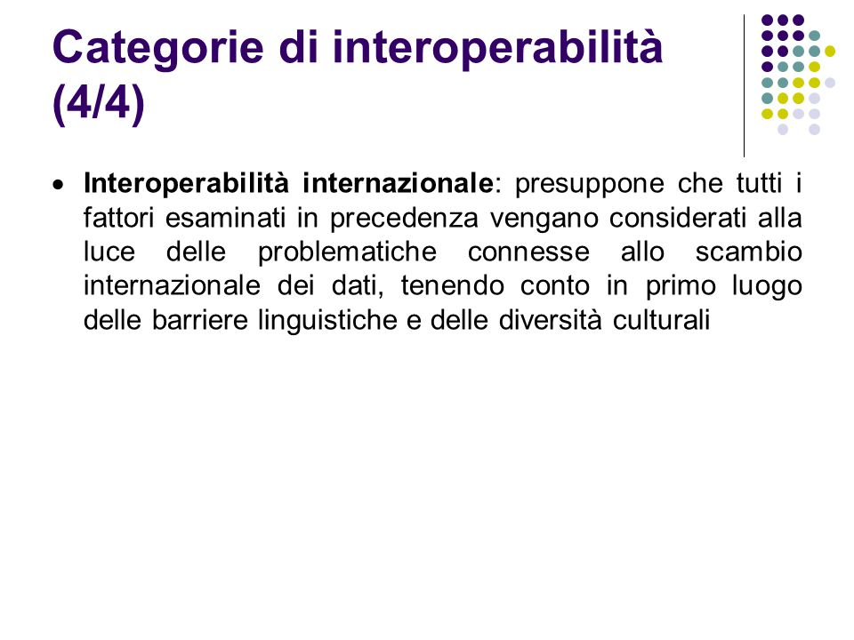 Categorie di interoperabilità (4/4)
