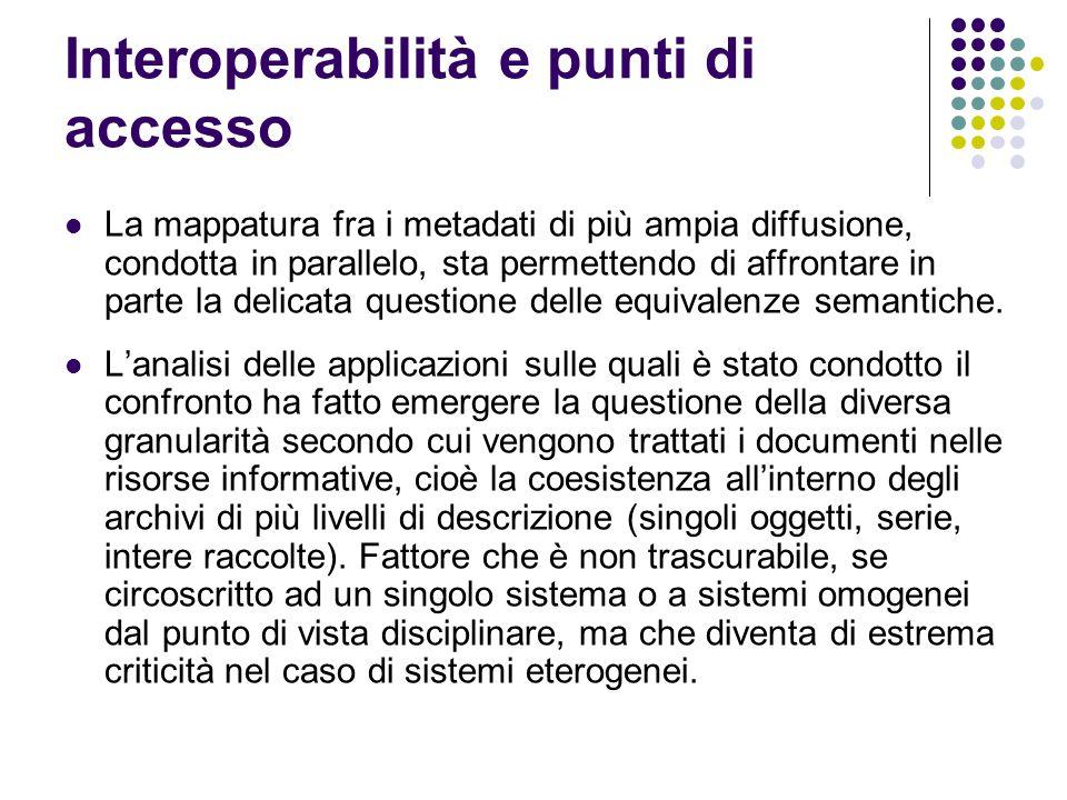 Interoperabilità e punti di accesso