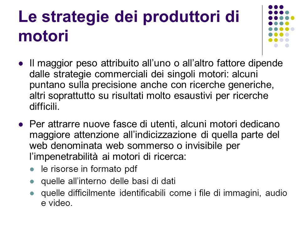 Le strategie dei produttori di motori
