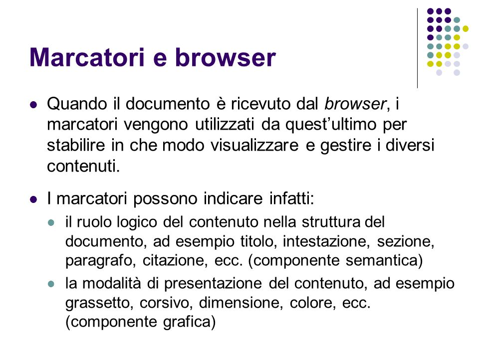 Marcatori e browser
