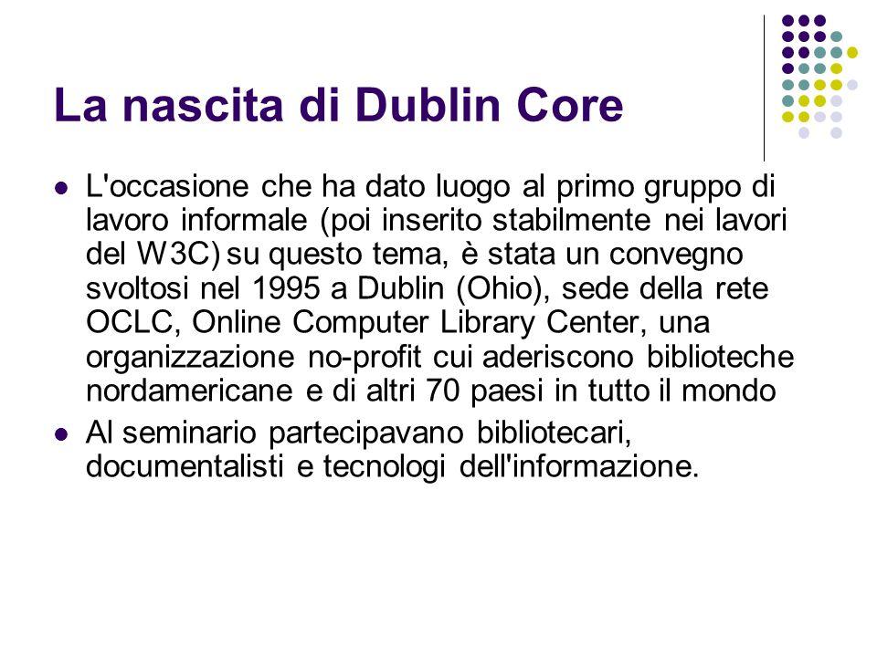 La nascita di Dublin Core