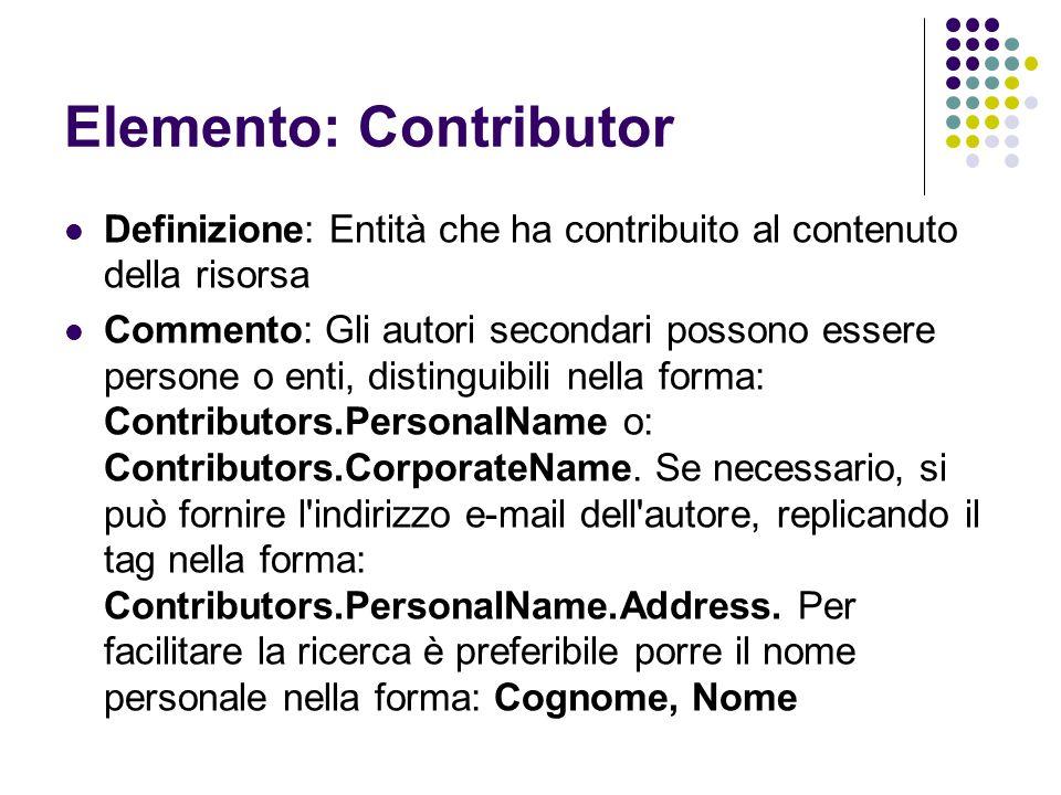 Elemento: Contributor