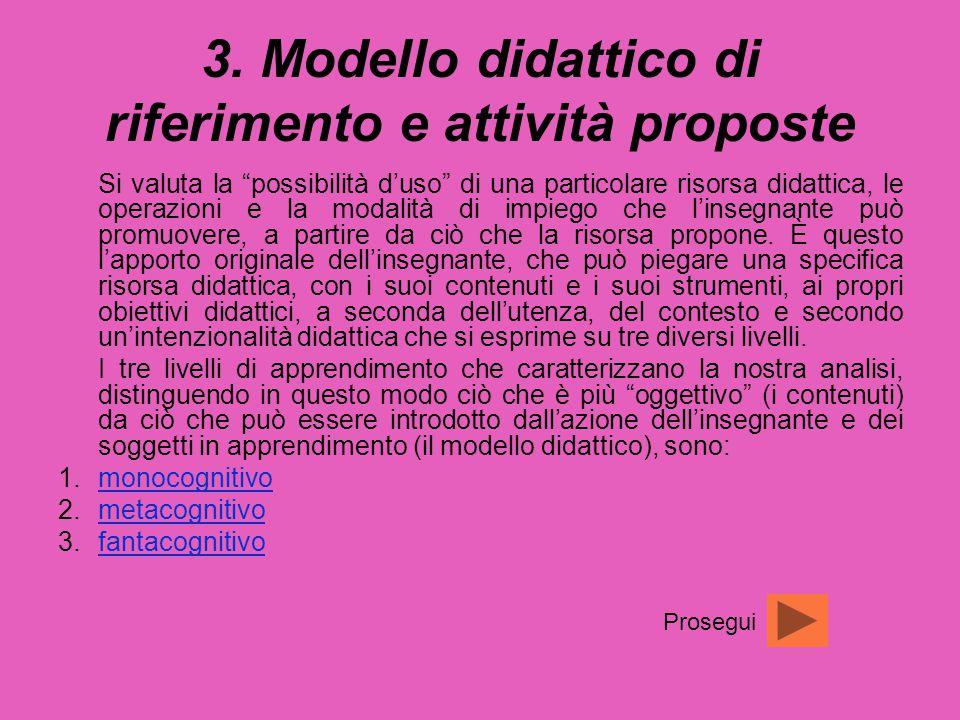 3. Modello didattico di riferimento e attività proposte