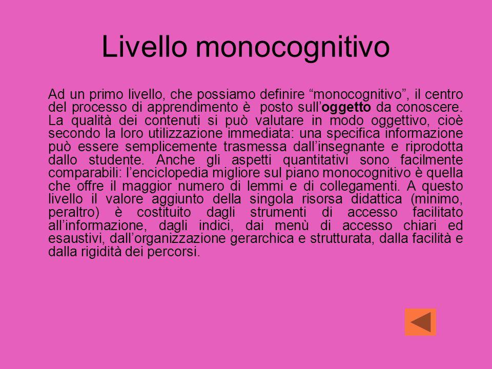 Livello monocognitivo