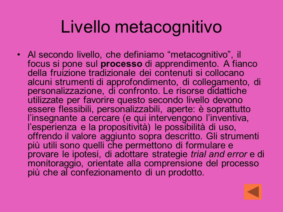 Livello metacognitivo