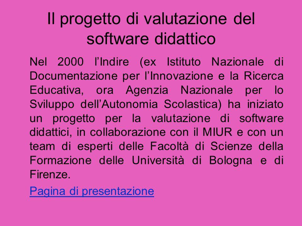 Il progetto di valutazione del software didattico