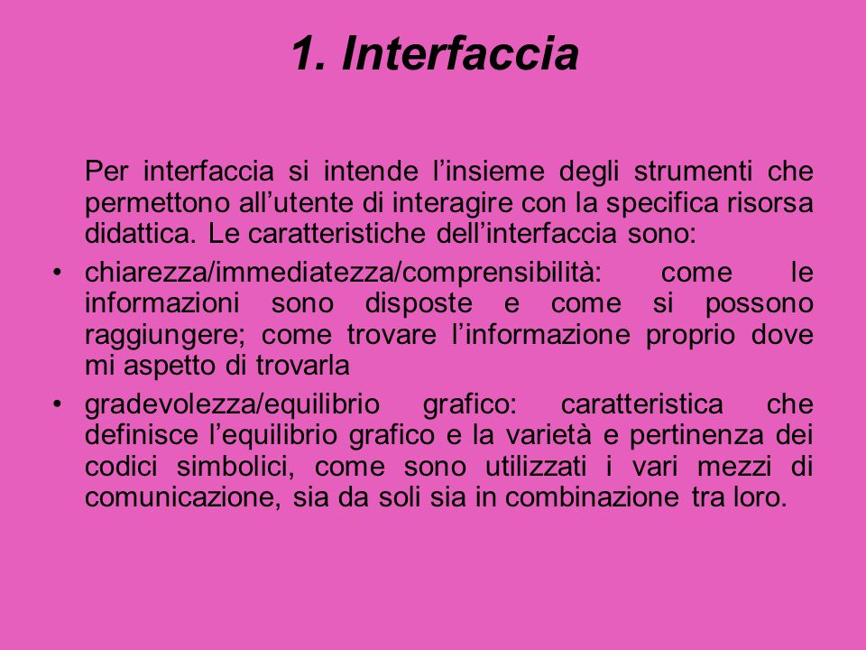 1. Interfaccia