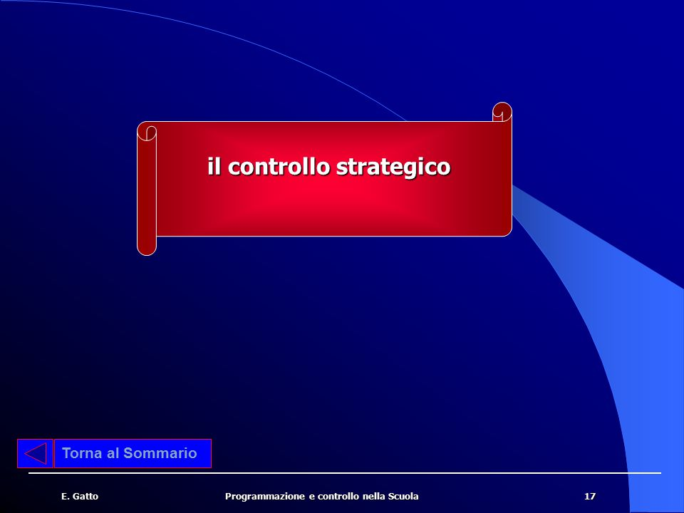 il controllo strategico
