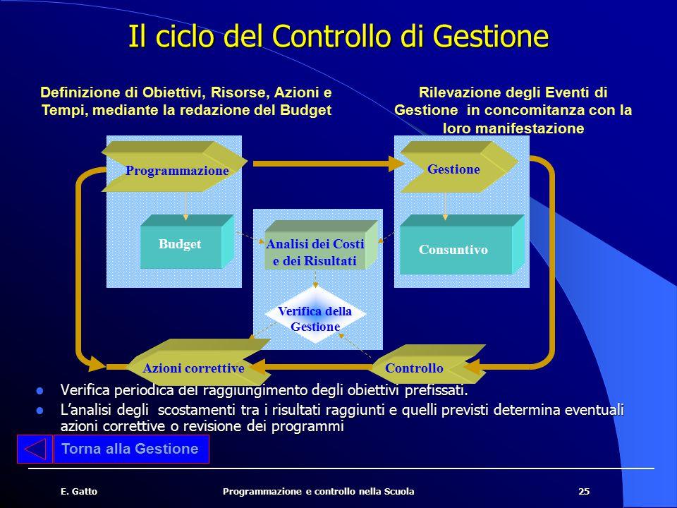 Il ciclo del Controllo di Gestione