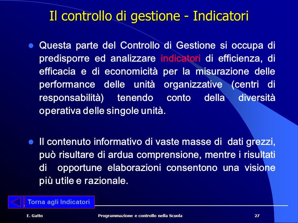 Il controllo di gestione - Indicatori