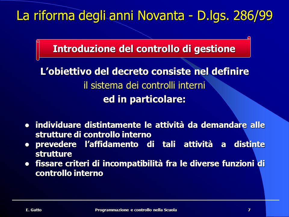 La riforma degli anni Novanta - D.lgs. 286/99