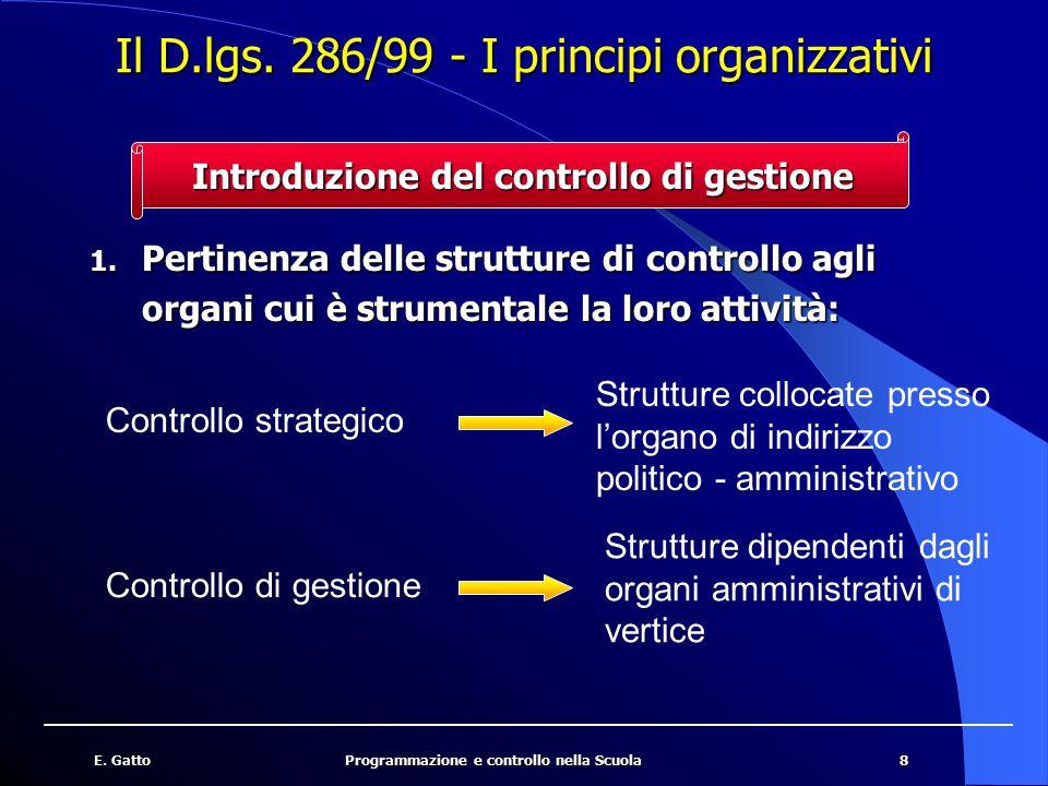 Il D.lgs. 286/99 - I principi organizzativi