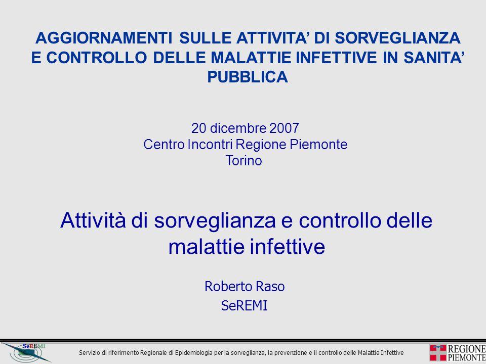 Attività di sorveglianza e controllo delle malattie infettive