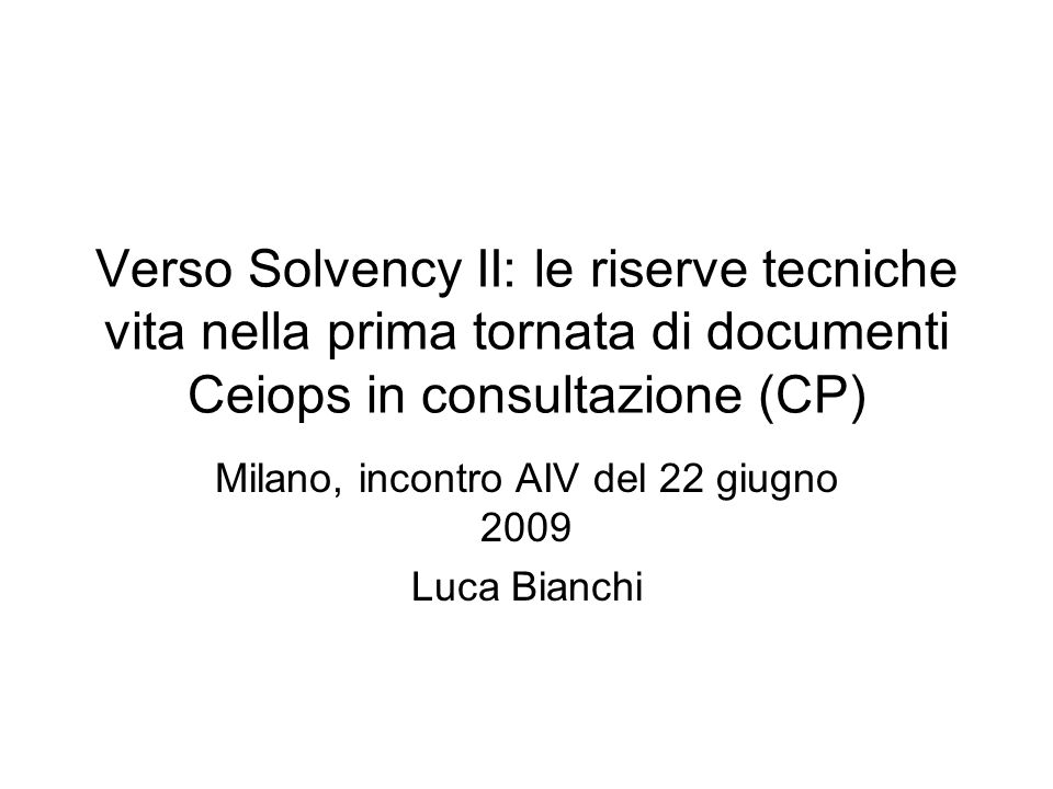 Milano, incontro AIV del 22 giugno 2009 Luca Bianchi
