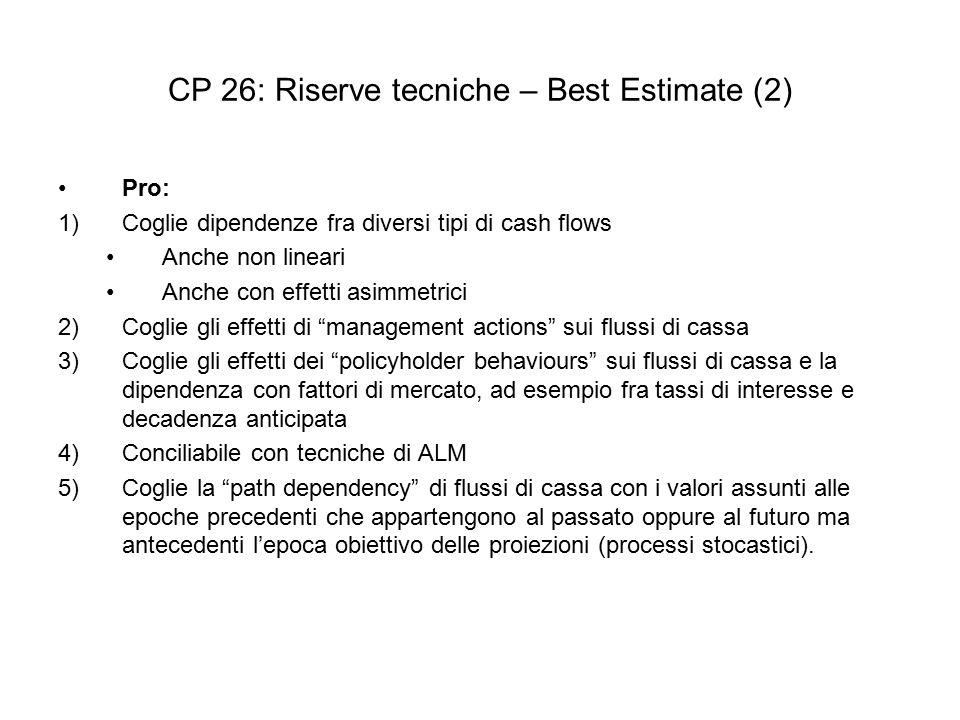 CP 26: Riserve tecniche – Best Estimate (2)