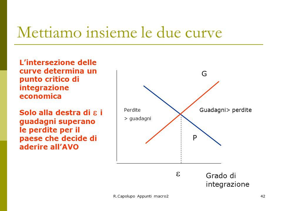 Mettiamo insieme le due curve