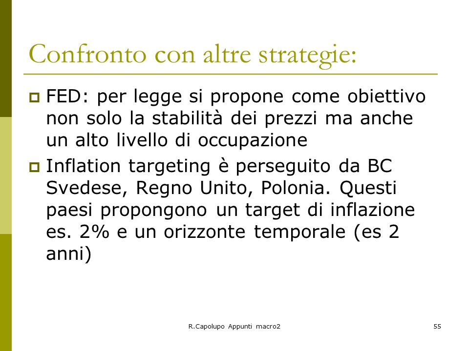 Confronto con altre strategie:
