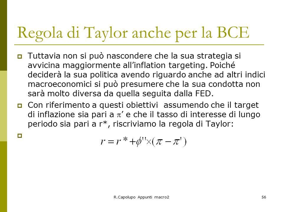 Regola di Taylor anche per la BCE