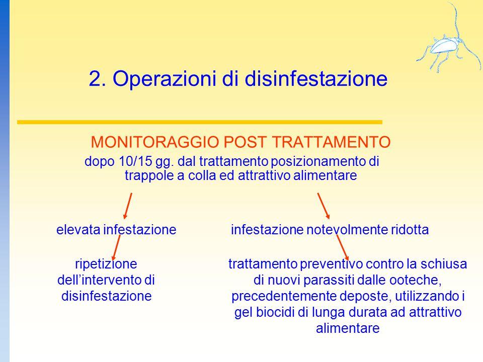 2. Operazioni di disinfestazione
