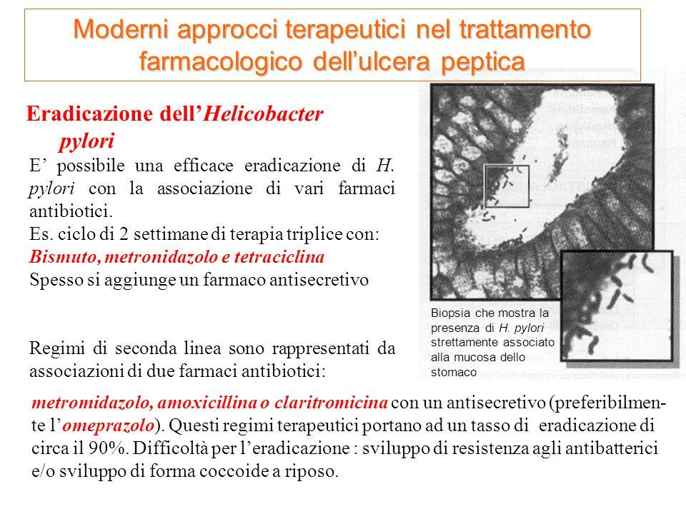 Moderni approcci terapeutici nel trattamento farmacologico dell'ulcera peptica