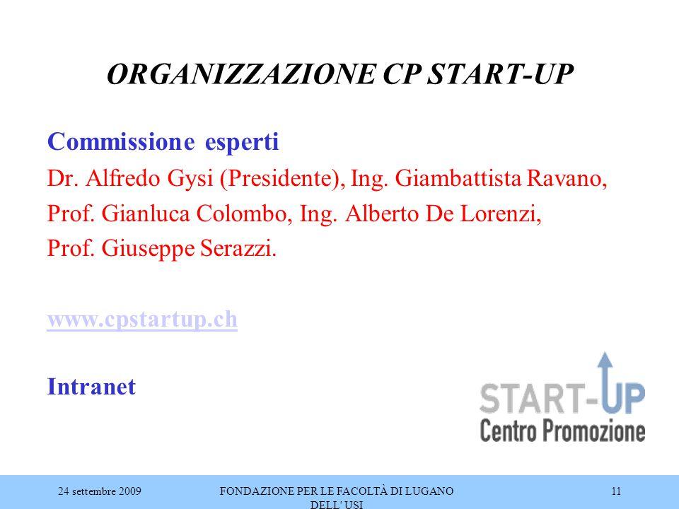 ORGANIZZAZIONE CP START-UP