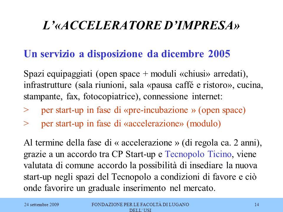 L'«ACCELERATORE D'IMPRESA»