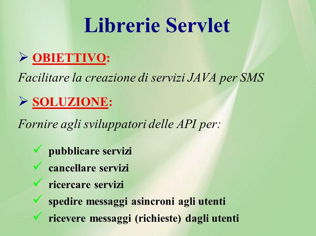 Librerie Servlet OBIETTIVO: