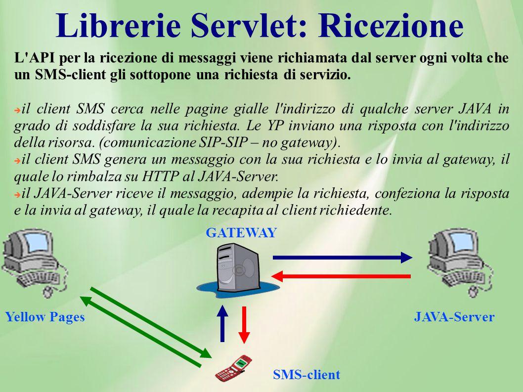 Librerie Servlet: Ricezione