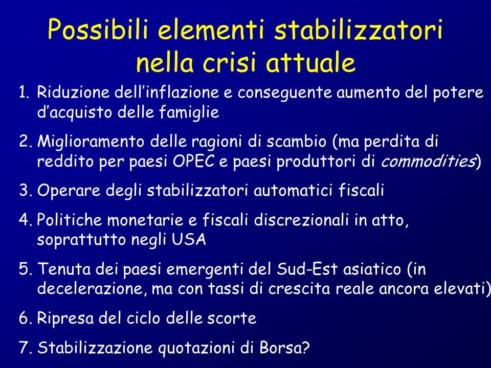 Possibili elementi stabilizzatori nella crisi attuale