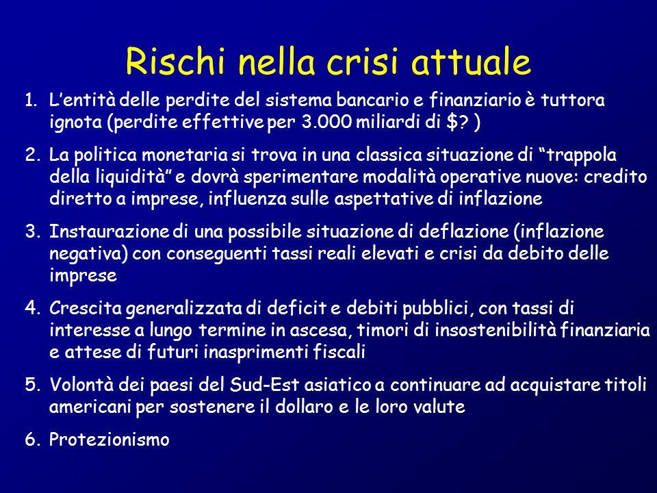 Rischi nella crisi attuale