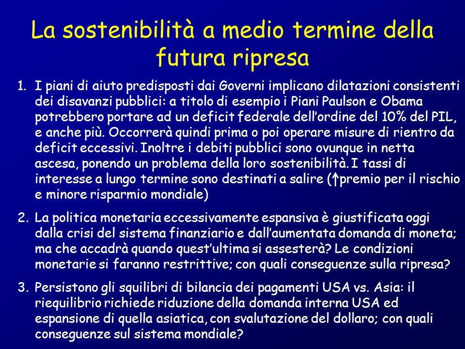 La sostenibilità a medio termine della futura ripresa