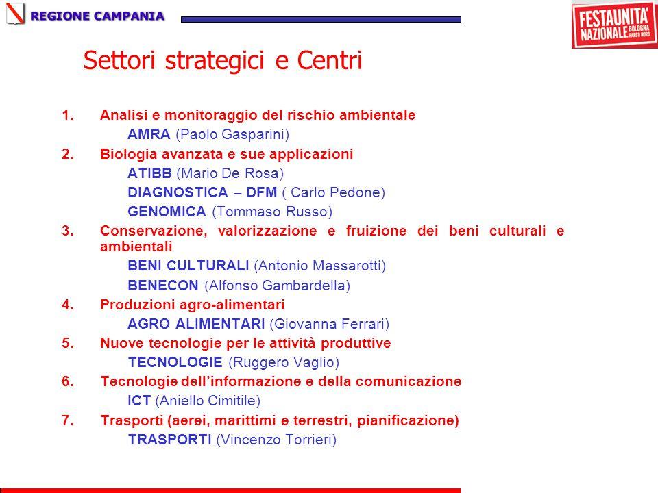 Settori strategici e Centri